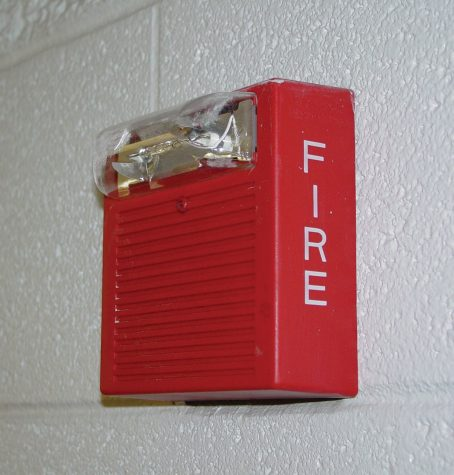 Fake fire alarms students
