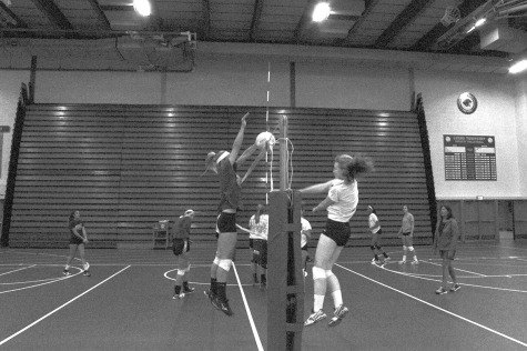 Girls Volleyball Handles Tension