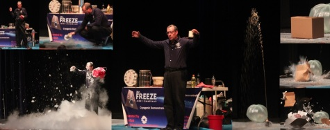 Mr. Freeze performs for GEMS