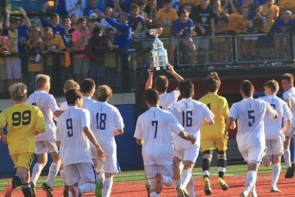 LT Boys Soccer wins 2015 PepsiCo Showdown
