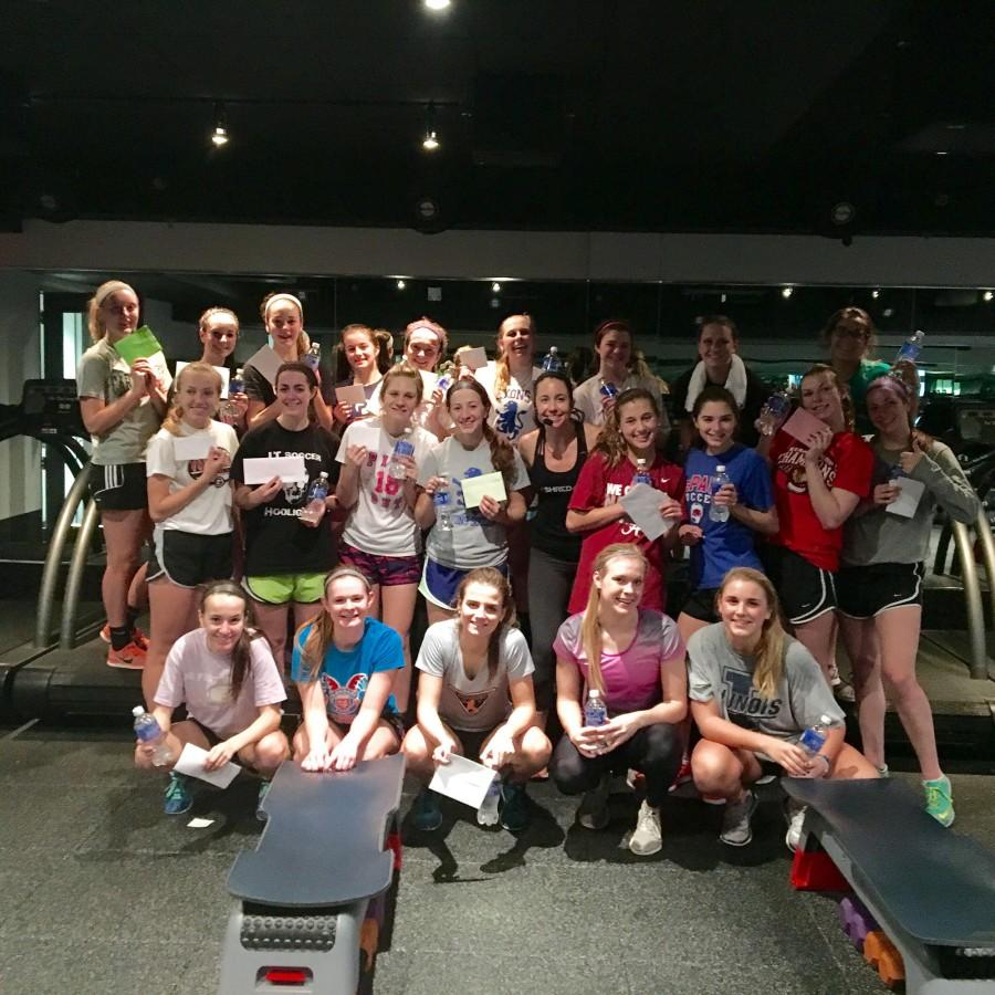 The team posing after a workout (Christina Thornton).