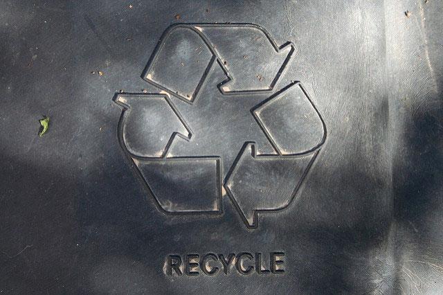 Recycling logo (Alan Levine).