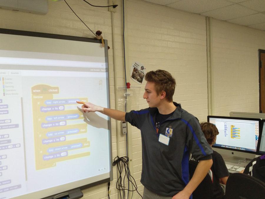 Students+start+coding+class