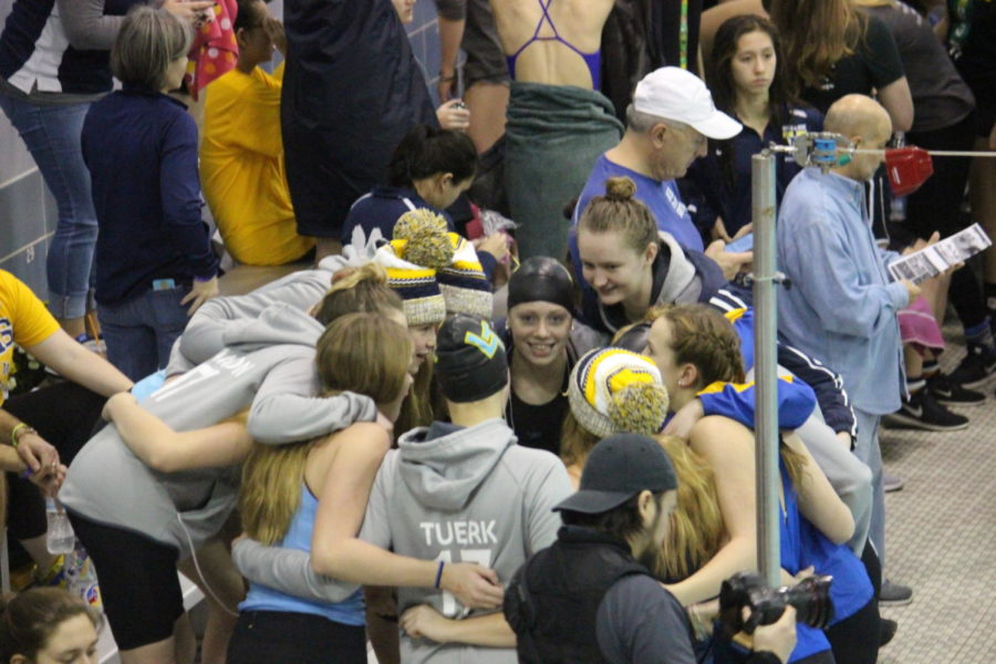 Dunn, relays shine in girls swimming 6th place state finish