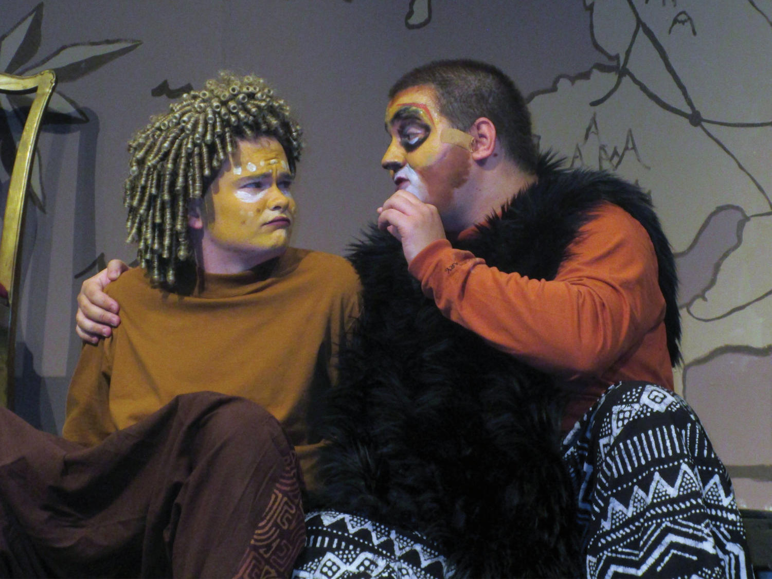 Brendan Loftus and Brian Marino perform a scene from the show. (Shearrill/LION)