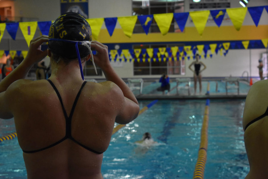 Callahan Dunn '20 prepares to anchor one of the relay sat LT's relay invite earlier this year. Female sports tend to get much less attention than male sports. (Kulat/LION).