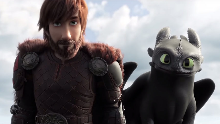 A+promotional+image+for+the+film%2C+featuring+Hiccup+and+Toothless%2C+the+main+characters.