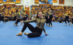 Member of the Eurythmic Dance Company preforms their routine at the 18th All School Assembly.