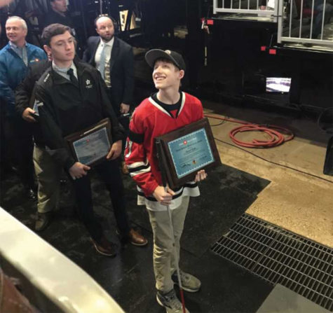 David Kopp '20 recognized by Chicago Blackhawks Hockey team