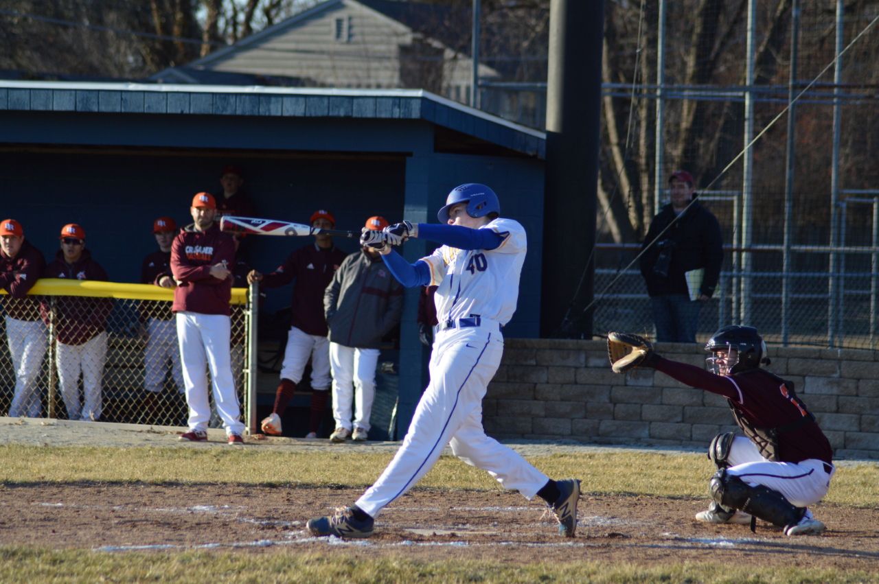 Connor Cassady '20 up to bat at Brother Rice game  (Photo courtesy of Doug Gilman).