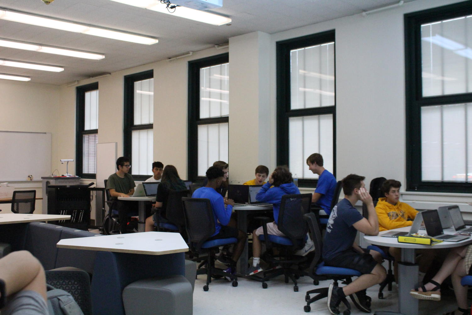 The classroom is set up to be more similar to a business environment rather than a classroom (Joyner/LION).