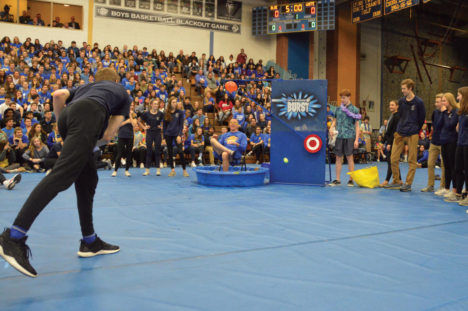 Members of ACE participate in last year's All School Assembly (Breen/LION).