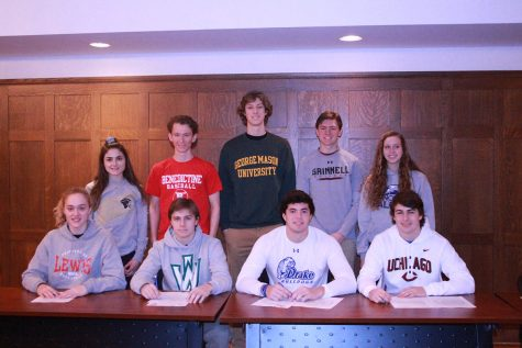 Nine senior athletes sign letters of intent to play at their respective universities
