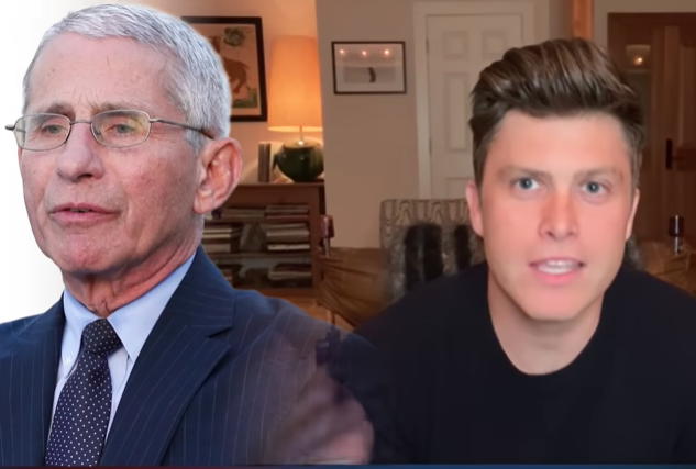 Colin Jost tells a joke about Dr. Anthony Fauci.
