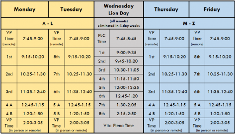 LT hybrid weekly schedule