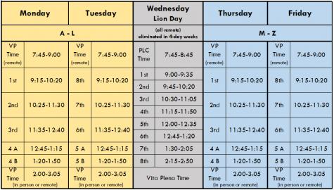 LT hybrid weekly schedule