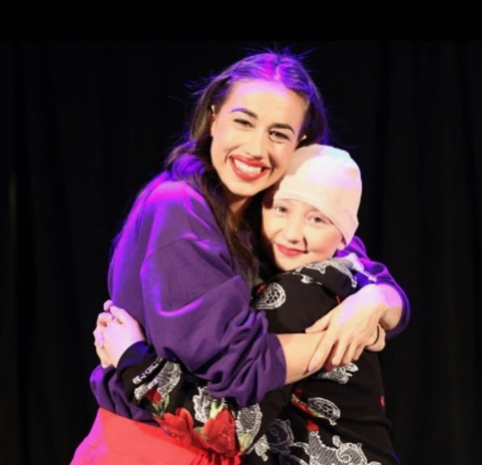 Kylie Conklin with Colleen Ballinger at her live show in 2018. (photo courtesy of Conklin)