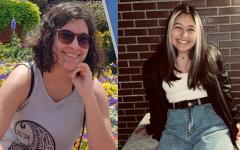 Maya Djurisic '20 on left and Jessica Quintero '21 on right