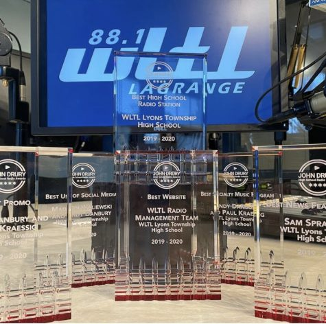 The six awards WLTL took home from the John Drury Awards. (photo curtesy of WLTL)