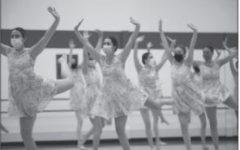 Dance team rehearses for performance (Riordan/LION).