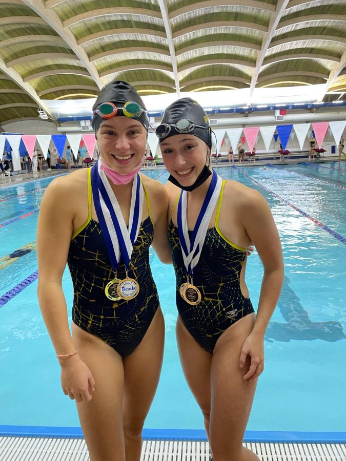 From left to right: Becky Phillips 23 and teammate Maggie Adler 23 (photo courtesy of Phillips).