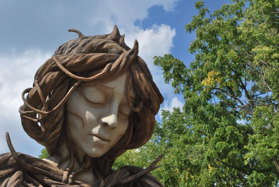UMI sculpture at Human + Nature exhibit at Morton Aboretum (Hepokoski/LION).