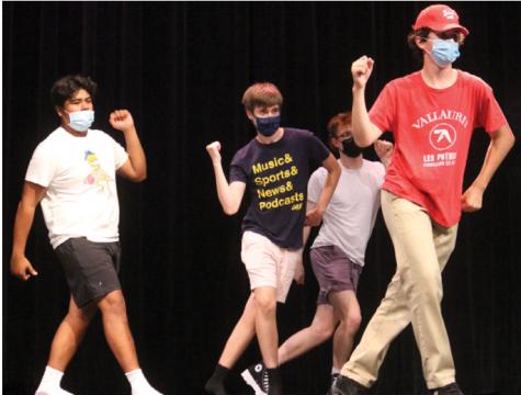 Students rehearse dance for Mr. LT show (Lestina/LION).